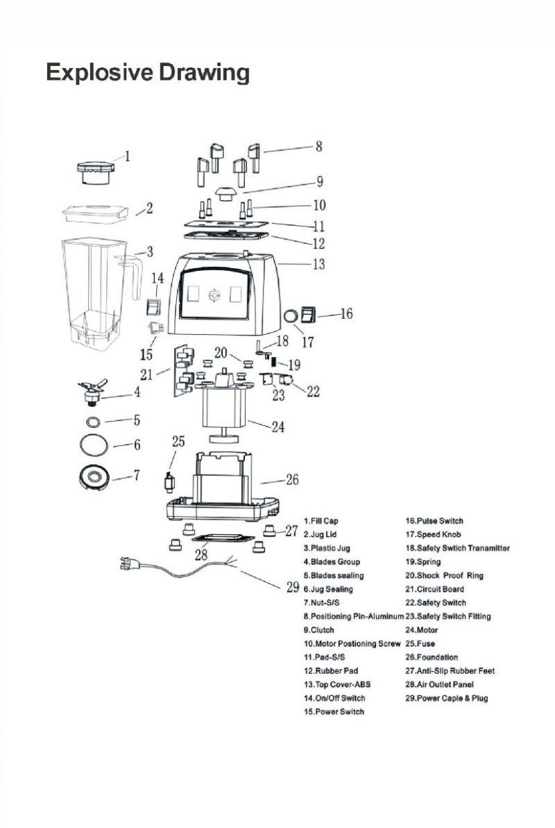 Schita explodata blender BL020