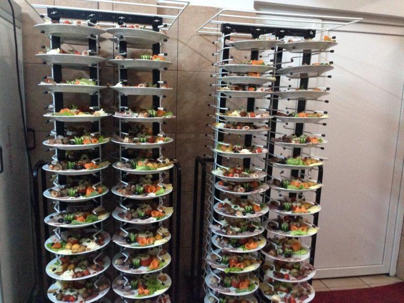 Carucior servire farfurii cu husa - 100 farfurii