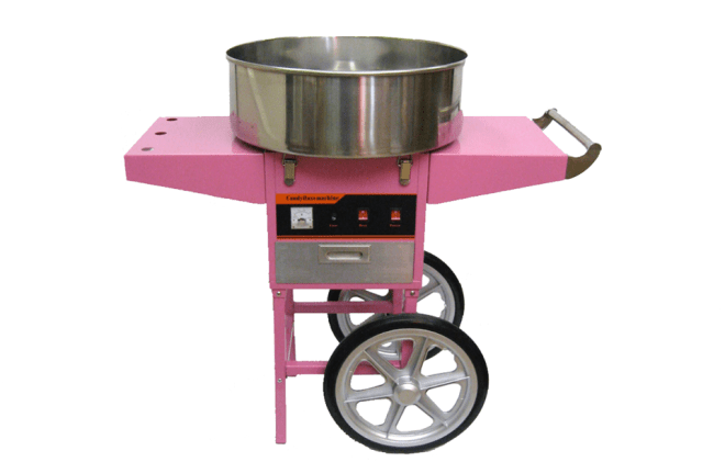 Aparat vata de zahar pe gaz cu carucior