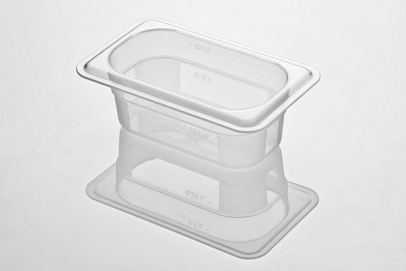 Tava gastronorm | GN 1/9-65 mm policarbonat