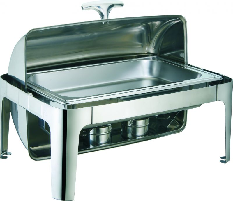 Chafting dish cu capac roll top