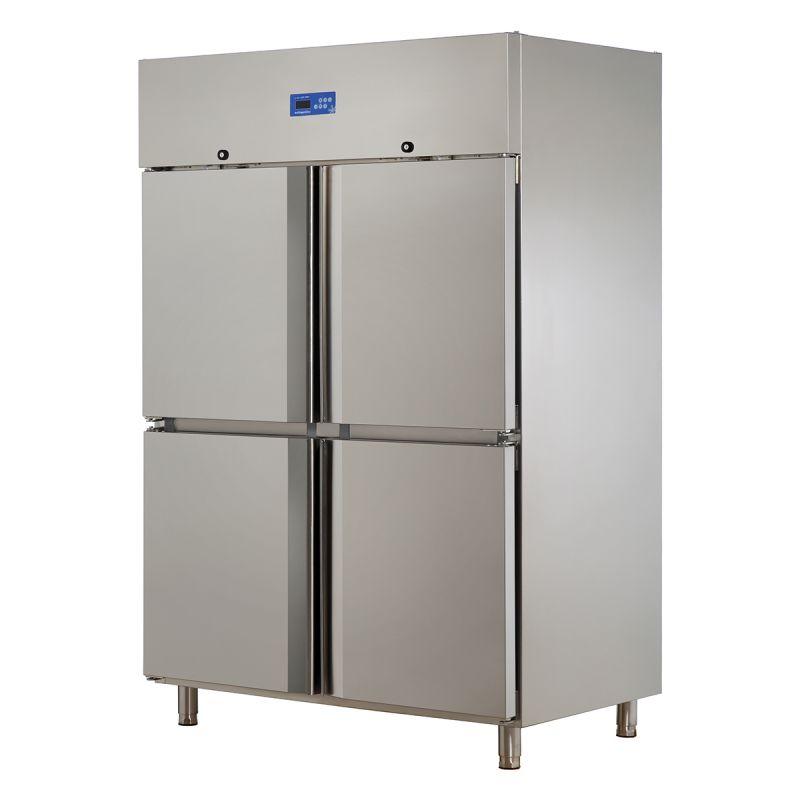 Dulap congelare dublu  cu 4 usi INOX 430 | Congelator profesional inox 1300 lt Ozti