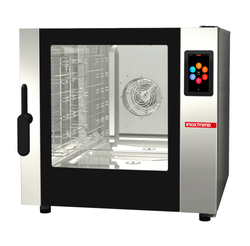 Cuptor profesional CrossWise electric Combi, touch screen, 6 tavi GN 1/1