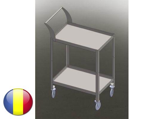 Carucior   Gheridon inox instrumentar cu 2 polite 900x600x800 mm