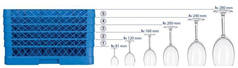 Cos spalat pahare cu 16 compartimente