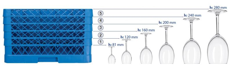 Cos spalat pahare cu 49 compartimente