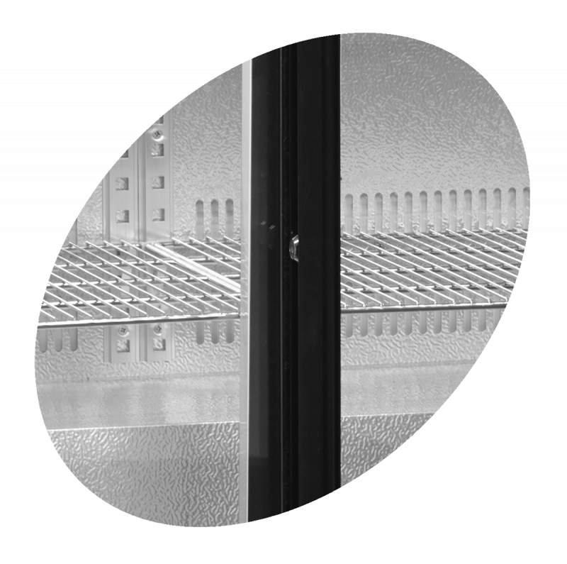 Vitrina frigorifica profesionala cu 2 usi glisante