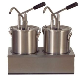 Dispenser sosuri | dozator dublu din inox 2 x 4.5l