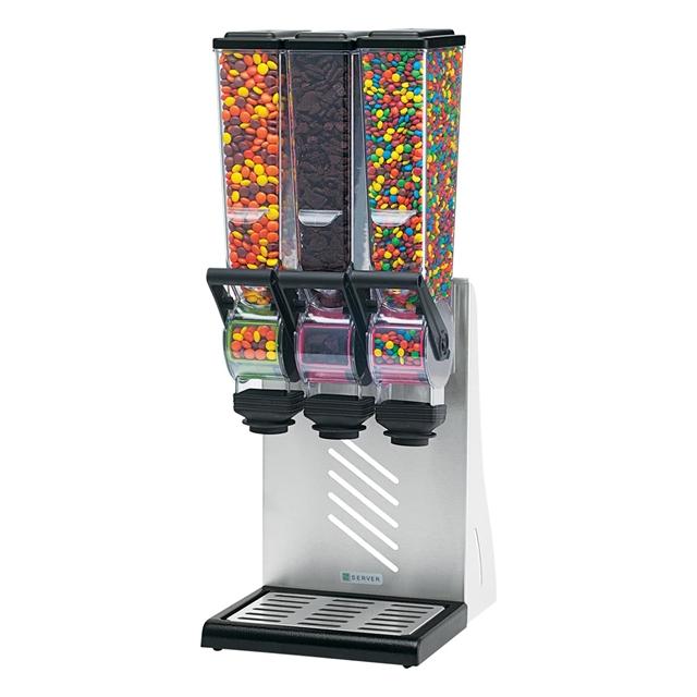 Dispenser | Dozator triplu bomboane 2L slim line cu suport