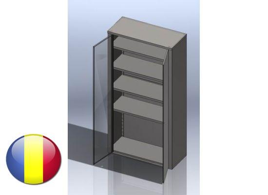 Dulap inox vertical cu usi batante si 4 polite 1600x500x1800 mm