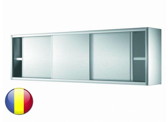 Dulap inox suspendat cu usi glisante cu 1 polita intermediara 2000x400x600 mm