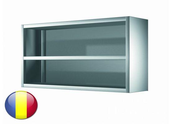 Dulap inox suspendat fara usi cu 1 polita intermediara 1200x400x600 mm