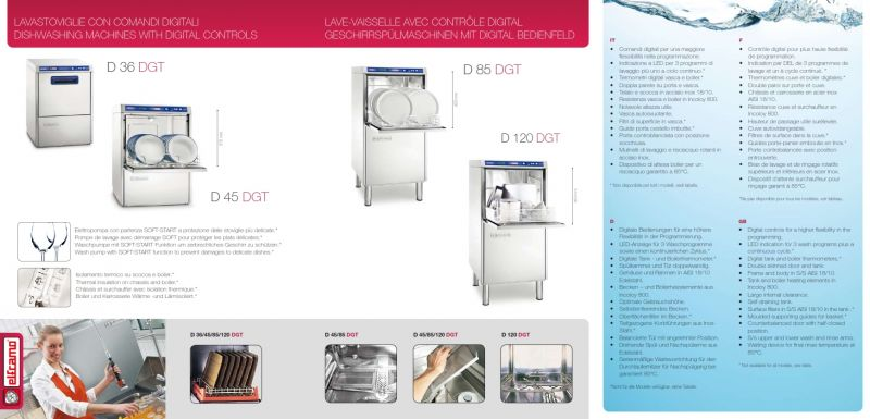 Masina profesionala de spalat vesela profesionala Elframo - Digitala