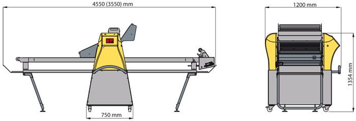 Masina automata turat aluat 2000x700 mm