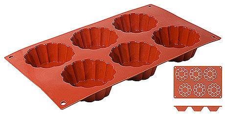 Forma silicon Briochette (6 forme) D 7.5cm