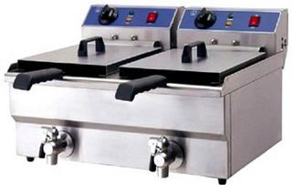 Friteusa | Friteuza electrica profesionala cu robinet 2X10 L