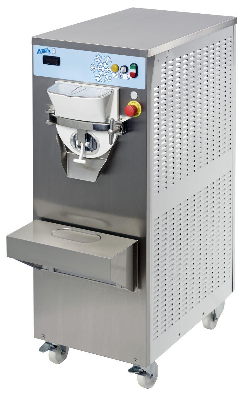 Masina de inghetata Gelita cu pasteurizator-productie 2 vaschete de 5 l / sarja