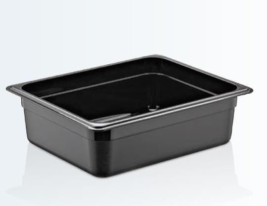 Tava gastronorm | GN 1/2-100 MM neagra policarbonat