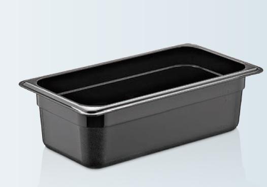 Tava gastronorm | GN 1/3-100 MM neagra policarbonat