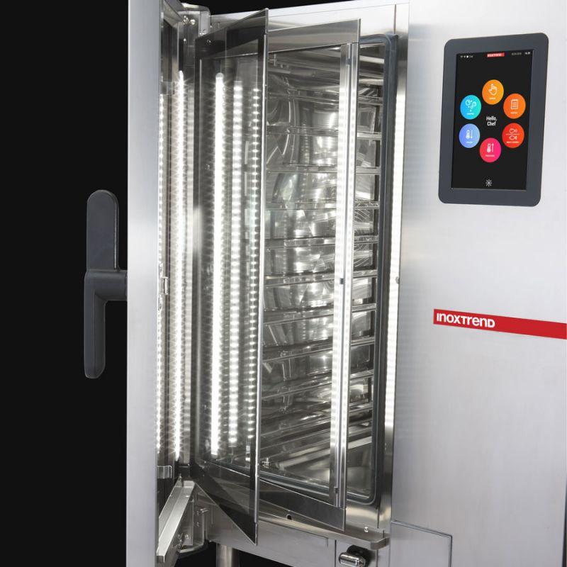 Cuptor profesional CrossWise electric Combi, touch screen, 5 tavi GN 1/1 sau patiserie 600x400 mm