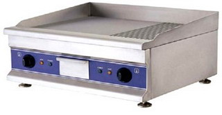 Grill |  Gratar electric profesional neted si striat, 5 KW