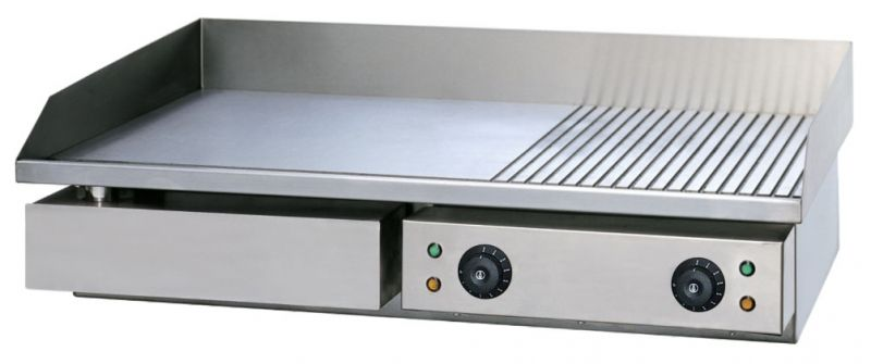 Grill | gratar  profesional 60% neted  40% striat 4.4 kW - electric