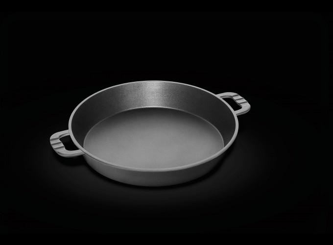 Tigaie pentru Paella profesionala antiaderenta AMT Gastroguss ( Germania) 38cm, Inaltime 7cm