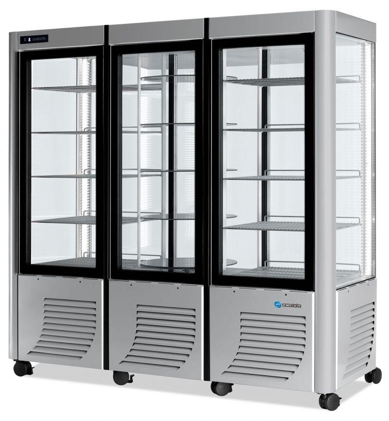 Vitrina refrigerata verticala  tripla rotativa / fix