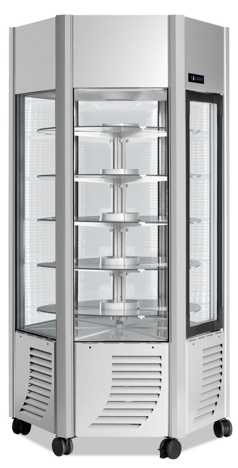 Vitrina refrigerata verticala rotativa