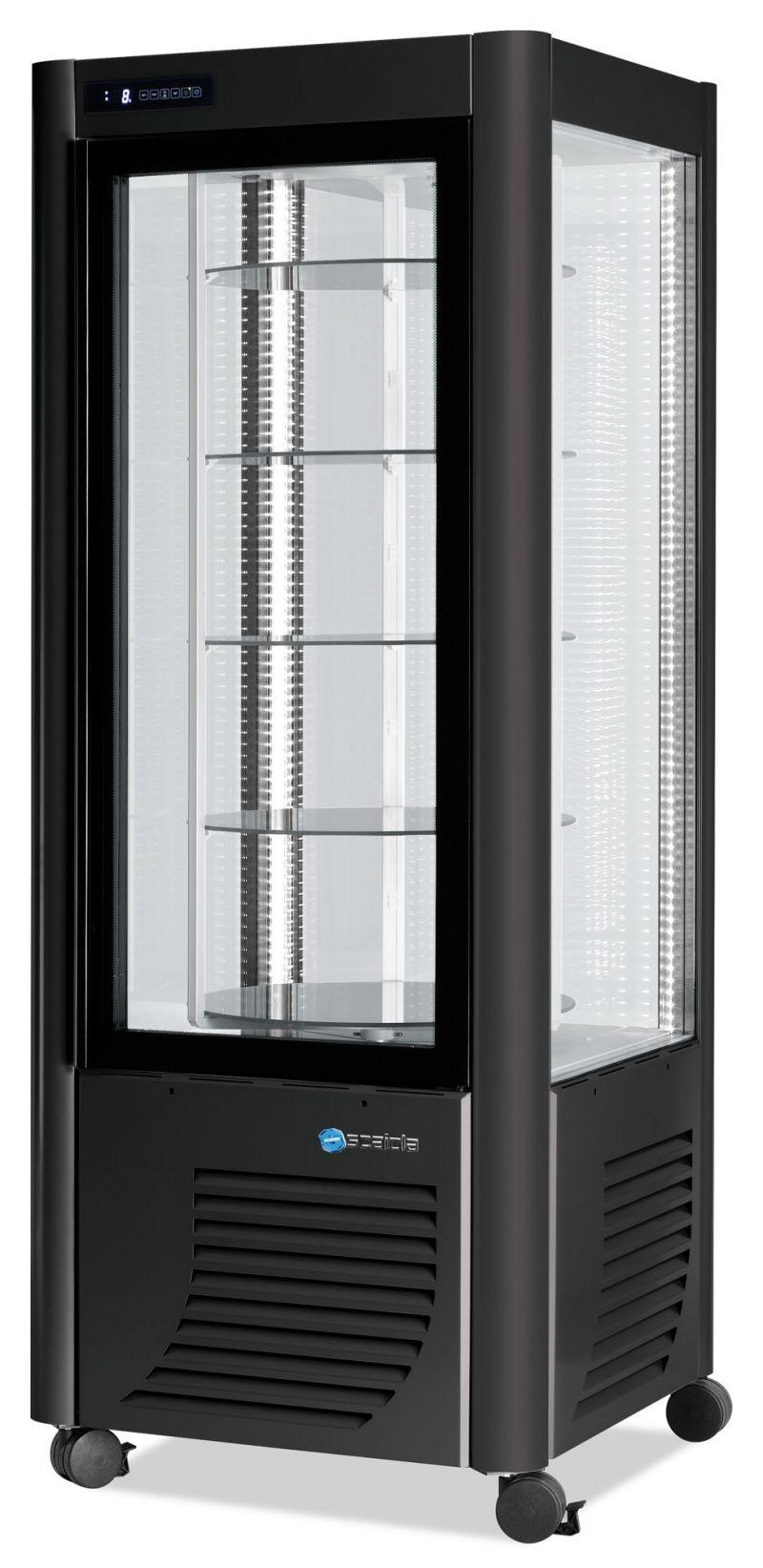 Vitrina verticala refrigerata rotativa