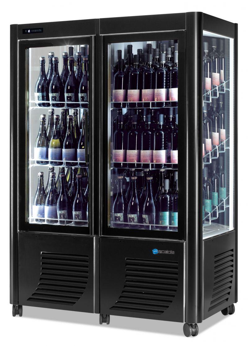 Vitrina refrigerata verticala expunere vinuri dubla