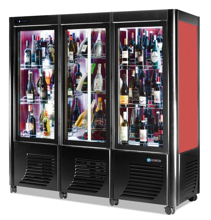 Vitrina refrigerata verticala expunere vinuri tripla