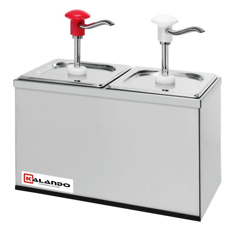 Dispenser sosuri | dozator dublu din inox 2 x 3l