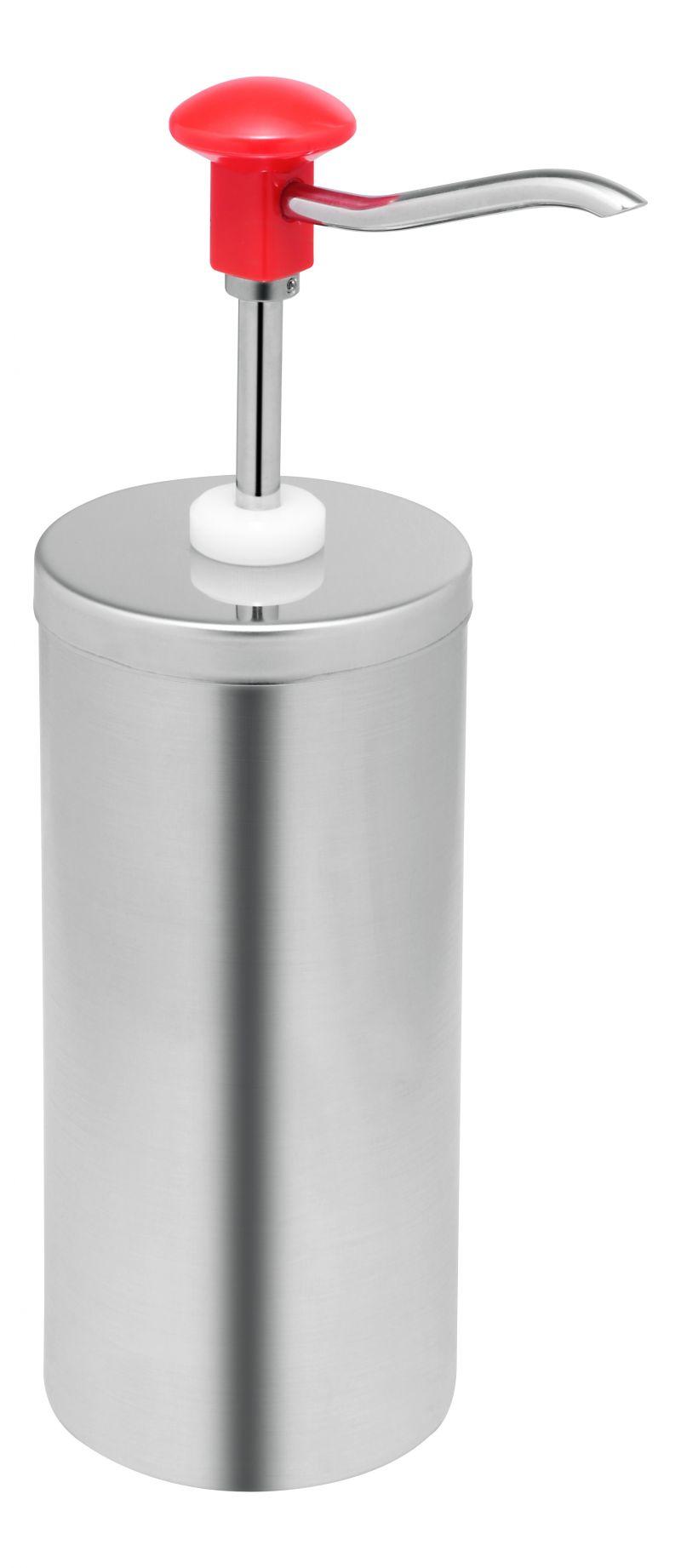 Dispenser sosuri | dozator simplu din inox 2.25l