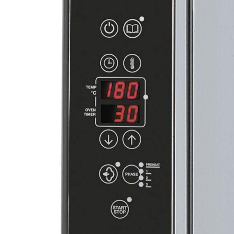 Cuptor Nice&Go pe gaz, cu programare, 10 tavi GN 1/1 sau patiserie 600x400 mm
