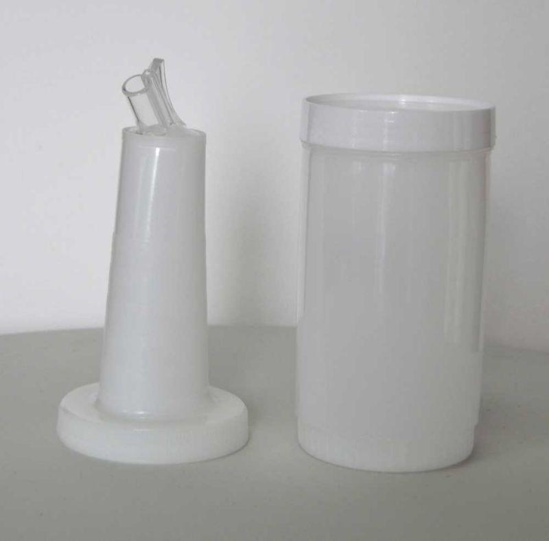 Pourer - picurator alb   recipient mixare