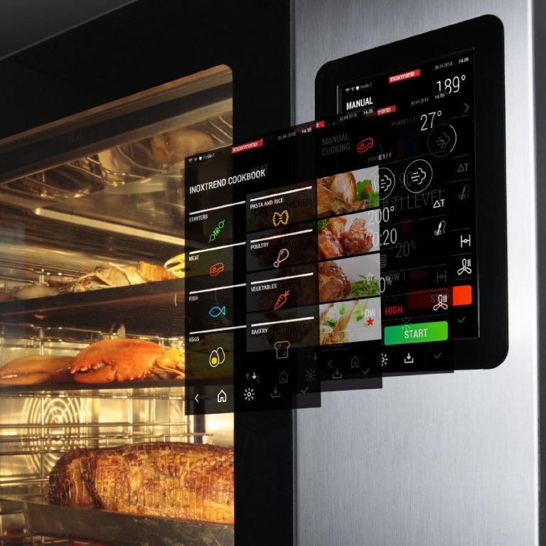 Cuptor profesional CrossWise pe gaz Combi, touch screen, 7 tavi GN 1/1 sau patiserie 600x400 mm