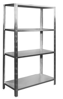 Rastel inox demontabil 4 polite |Raft inox cu 4 polite reglabile pe inaltime (L)117 x (l)52 x (H)180 cm