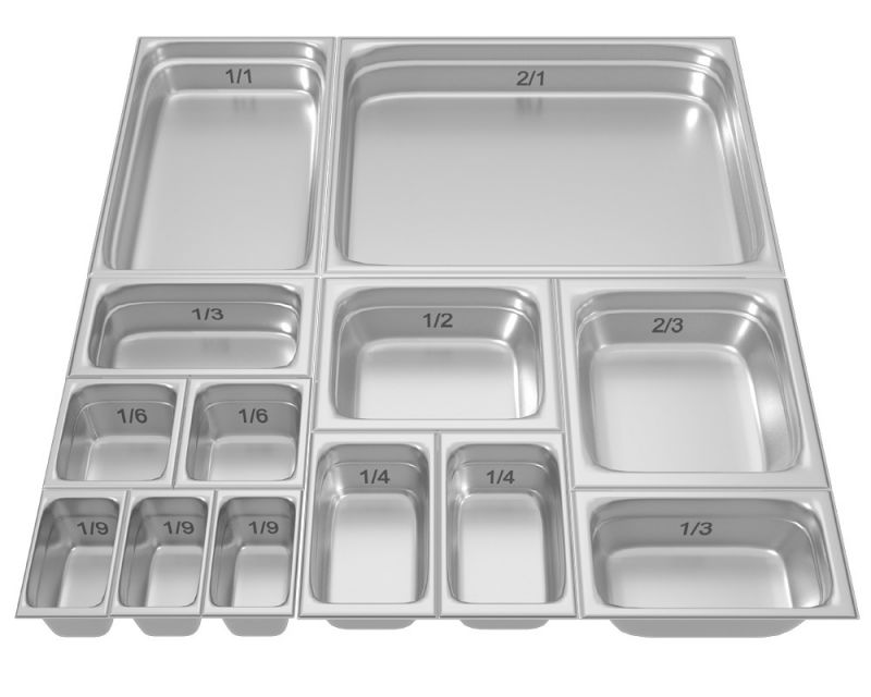 Tava gastronorm | GN 1|2-100 mm perforata inox