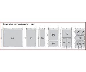 Tava gastronorm | GN 1/1-100 mm inox