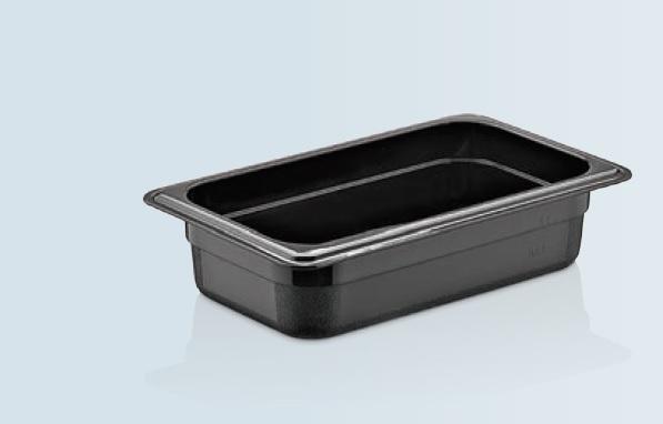 Tava gastronorm GN 1/2-65 MM neagra policarbonat
