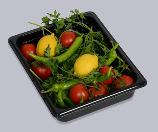 Tava  gastronorm | GN1/2-65 mm neagra policarbonat