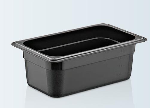 Tava gastronorm   GN 1/4-100 MM neagra policarbonat