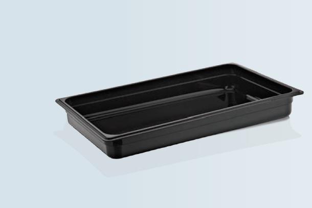Tava gastronorm| GN 1/1-65 mm neagra policarbonat