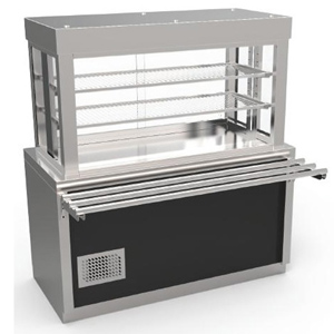 Vitrina frigorifica prevazuta cu dulap neutru si cuva frigorifica, 1190mm