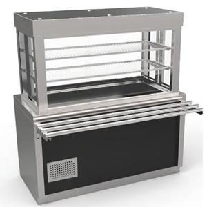 Vitrina frigorifica prevazuta cu suport deschis si cuva frigorifica, 1490mm