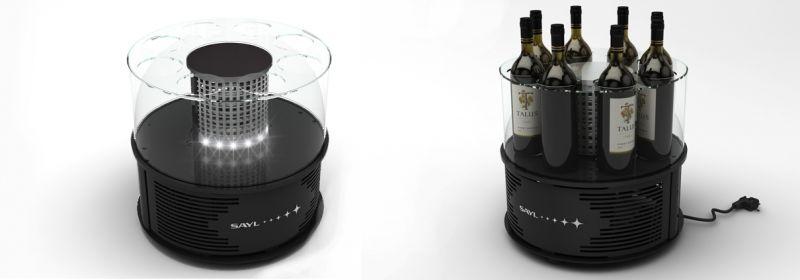 Vitrina frigorifica pentru vin ALEGRIA, 8 sticle fara led