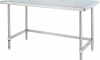 Masa inox centrala demontabila cu  legaturi inferioare pe 3 laturi 1400x700x850 mm