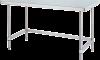 Masa inox centrala demontabila cu  legaturi inferioare pe 3 laturi 1200x700x850 mm