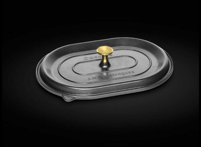 Capac La Cocotte pentru tava ovala pentru cuptor antiaderenta AMT GASTROGUSS ( GERMANIA) 32x22x11 cm